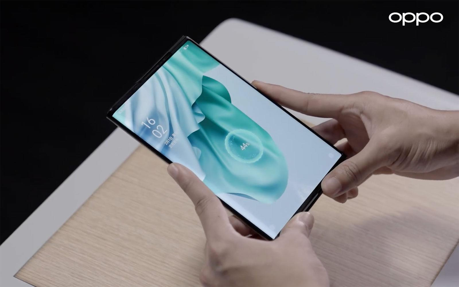 Oppo demos true wireless charging on its rollable phone - Engadget