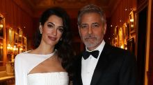 Amal Clooney Looks Stunning in a White-Hot Grecian-Style Gown at the Prince's Trust Dinner