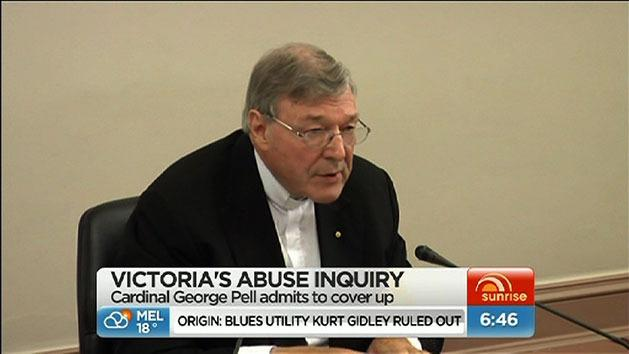 Cardinal Pell admits to cover-up