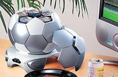 Can-cooling soccer ball conceals your secret stash