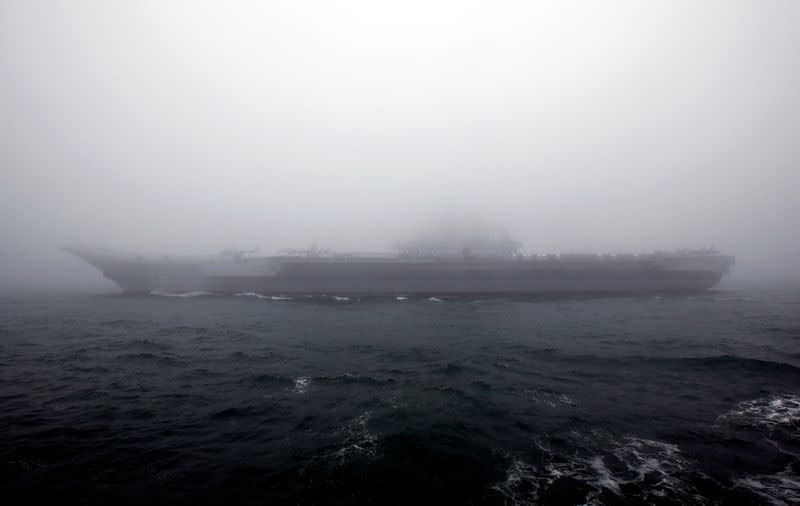China's first aircraft carrier sails near Taiwan