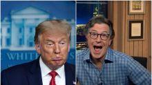 Trump's Awkward 'Fox & Friends' Moment Left Stephen Colbert Stunned