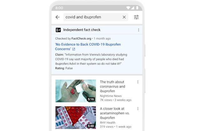 YouTube adds fact check panels to US-based searches