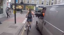 Female cyclist catcalled by man in van chases him down and exacts her revenge
