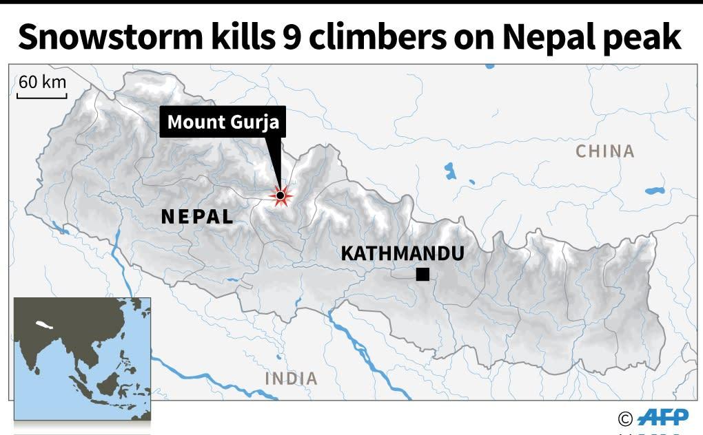 Location of Mount Gurja (AFP Photo/AFP )