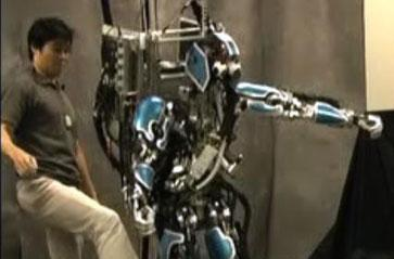 Sarcos humanoid robot learns how to take a shove