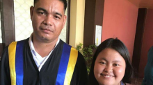 Security guard graduates from school he has watched over for nearly 20 years