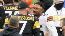 What did Myles Garrett and Mike Tomlin talk about before Browns-Steelers game?