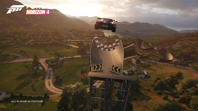Forza Horizon 4's 'Super7' mode lets you play and design stunt challenges
