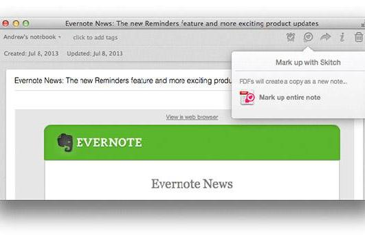Evernote for Mac adds highlighting, document preview and Skitch annotation