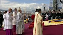 Thousands greet Pope Francis in Ecuador's capital