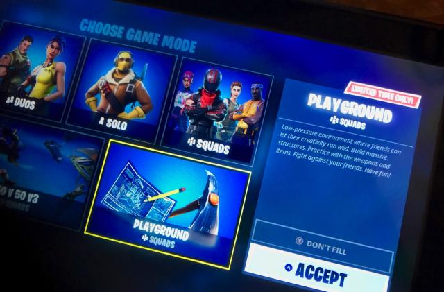 Delayed 'Fortnite' Playground practice mode is finally online