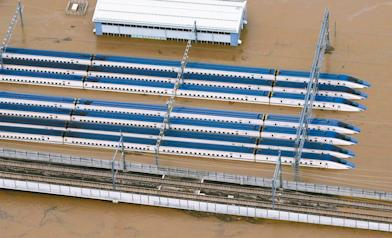 新幹線淹慘了 92億元恐全報銷