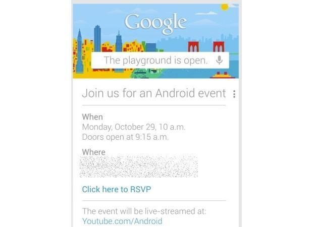 Google opens the playground for an Android event October 29th