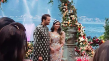 Pics: Isha and Anand's lavish engagement in Italy