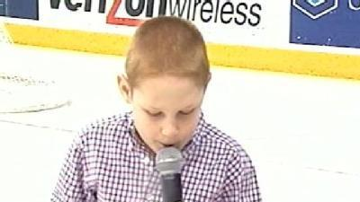 Uncut Video: 9-Year-Old Wows Crowd With National Anthem