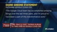 Google Cloud CEO Greene being replaced by Oracle exec Tho...