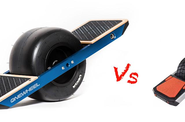 There's a battle brewing over one-wheeled skateboards