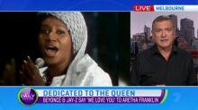 Music royalty visits bedside of Aretha Franklin