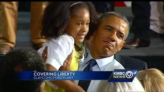President Obama visits Kansas City and the Ford stamping plant