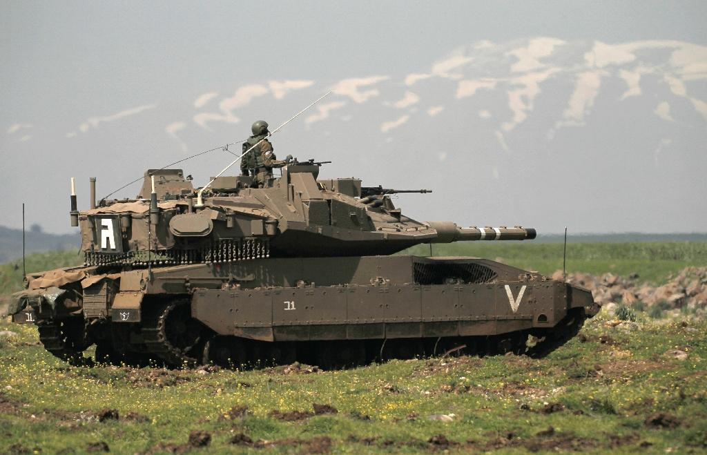 Israeli soldiers take part in training on March 22, 2017 on the Golan Heights, most of which Israel seized from Syria in the 1967 Six-Day War and later annexed