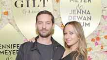Friendly exes Tobey Maguire and Jennifer Meyer reunite on red carpet