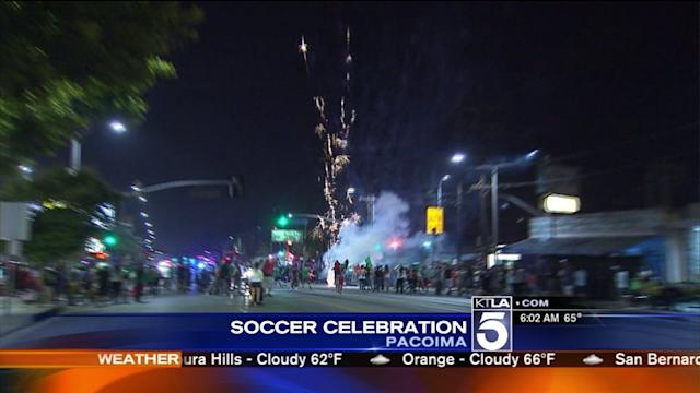 7 Detained, Freeway Ramps Closed as Mexico World Cup Win Celebration Spills Into Pacoima Streets