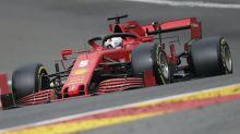 Sebastian Vettel finishes last in final practice at Belgian Grand Prix