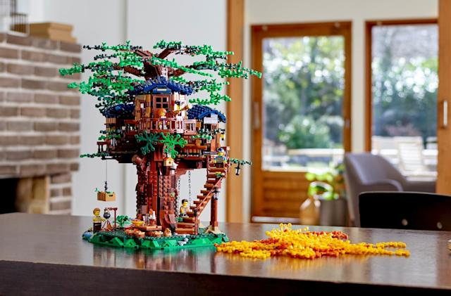 Lego's treehouse set uses plant-based bricks for the greenery