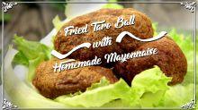 Fried Taro Ball with Homemade Mayonnaise
