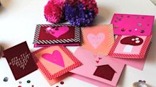 So Sweet! Here's How to Make a Set of Unique Paper Valentine Cards