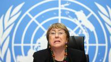 U.N. rights chief decries violations in China's Xinjiang, hopes for visit
