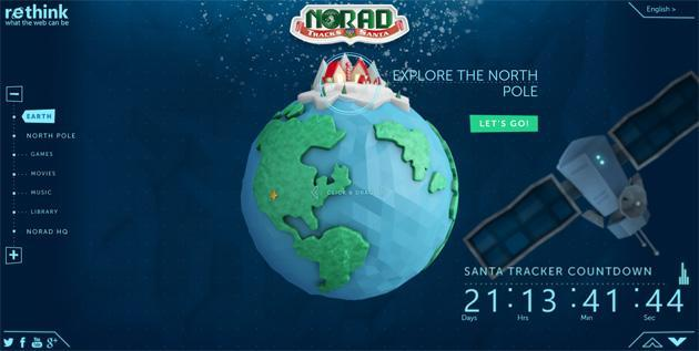 NORAD and Microsoft team on a touch-friendly Santa Claus web tracker