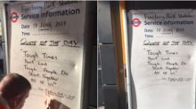 Commuters are sharing this powerful sign after London mosque attack