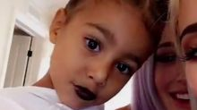 Kylie Jenner puts black lipstick on 3-year-old niece North, sparks debate about whether kids should wear make-up