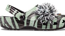 Christopher Kane continues with crocs quest and this time they're tiger print