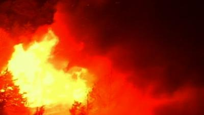 Oklahoma wildfire growing quickly