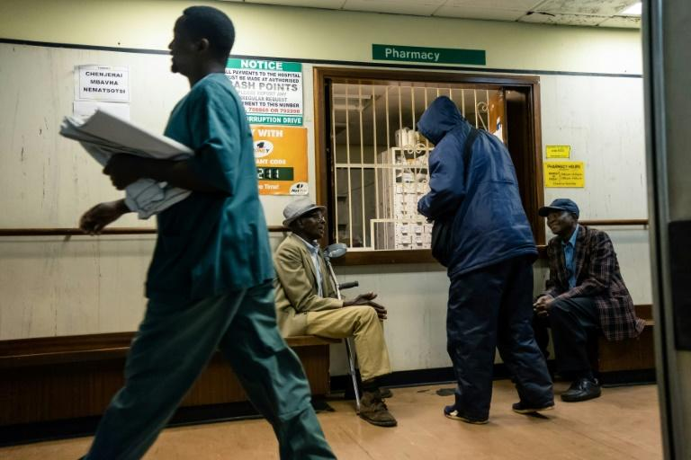 Lack of supplies and short-staffing have hit most Zimbabwe hospitals as the country struggles with economic crisis (AFP Photo/Jekesai NJIKIZANA)
