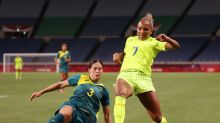 Olympics-Soccer-Sweden too strong for Matildas, Banda nets treble in Zambia draw