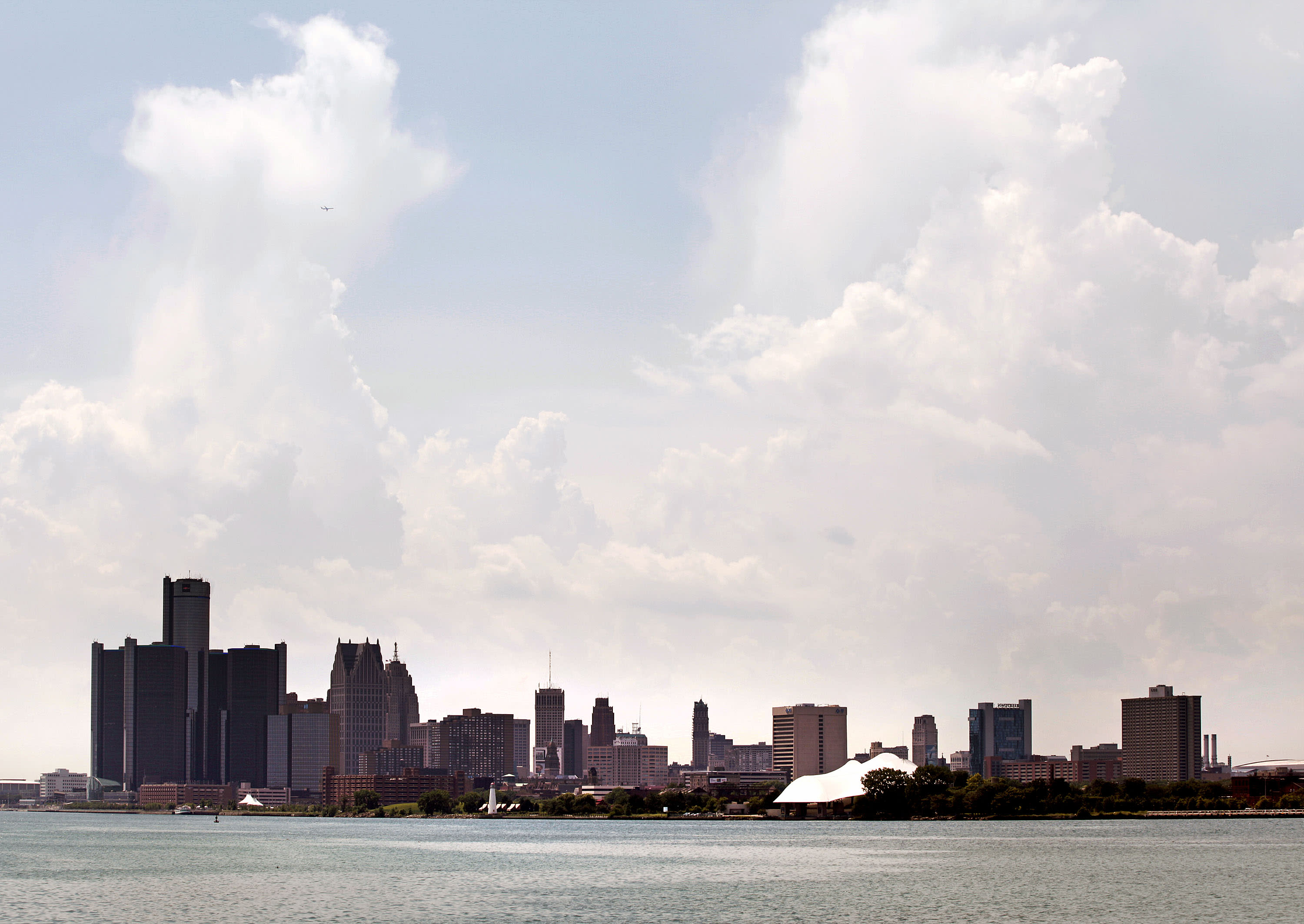 The city of Detroit's skyline on July 18, 2013
