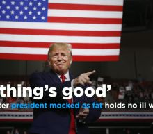 Supporter Trump mocked as fat says 'Everything's good'
