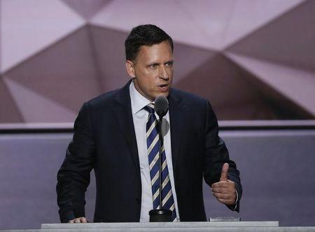 Paypal co-founder Peter Thiel speaks at the Republican National Convention in Cleveland