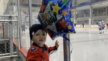 Alex Ovechkin surprised on his birthday by his adorable son at the rink