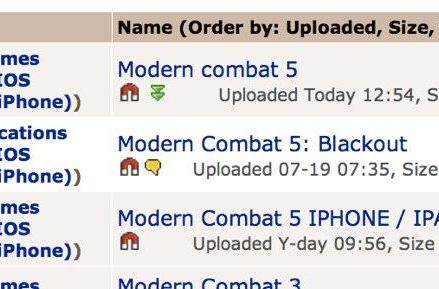 Contest winner gets Modern Combat iOS game early, cracks and distributes it online