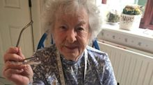 One of UK's oldest volunteers has been making NHS scrubs on 75-year-old sewing machine