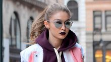 Gigi Hadid Matches Her Lipstick and Her Shoes