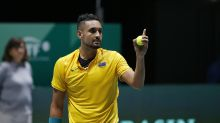 Nick Kyrgios smashes down aces to aid bushfire relief