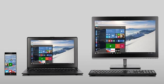 The design of Windows 10: a consistent look across all devices