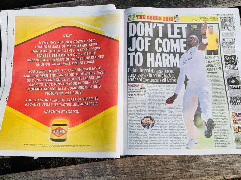 Marmite hits back at Vegemite in bizarre Ashes war of words