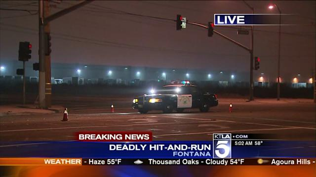 Authorities Searching for Big-Rig Driver After Fatal Hit-and-Run in San Bernardino County